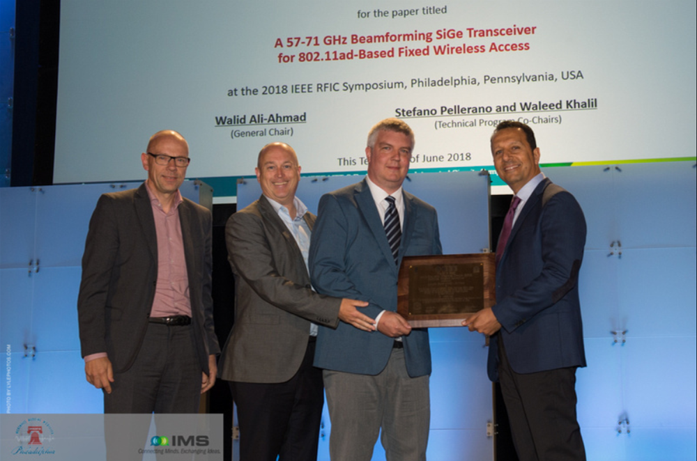 Sivers Wireless Chip Paper best industry showcase 2018